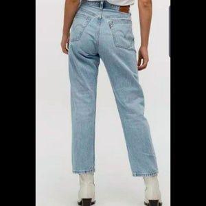 Vintage Levi's 501 button fly light wash jeans
